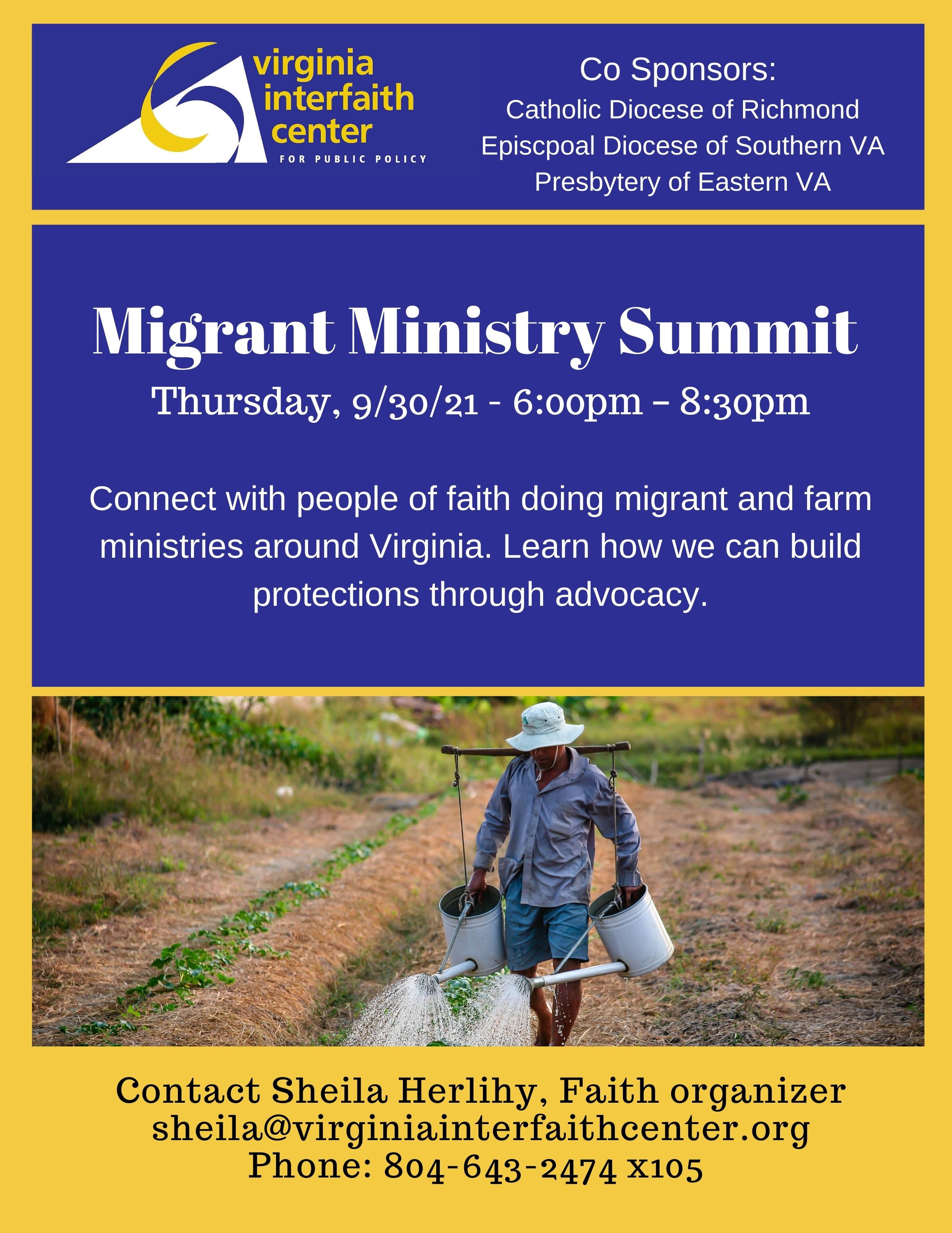 Migrant Ministry Summit Graphic